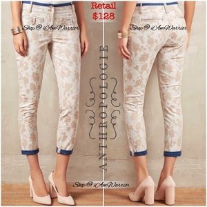 Anthropologie {Cartonnier} floral cropped pants